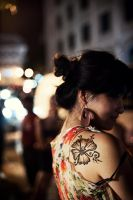Girl with the flower tattoo by winstonsiraj