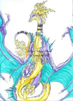 Tattooed DRagon Colored by CarrieJCole