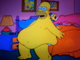 Homer's belly from King Size Homer by Pervertix