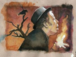 Tom Waits-christmas card by TrevorGrove