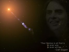 Carl Sagan - M87 Jet by Lord-Iluvatar