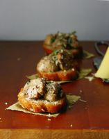 Mushrooms on toast by sasQuat-ch