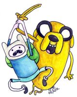 Finn and Jake by altworld