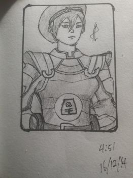 Seccond sketch, Officer Toph! by Redmoda