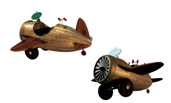 SteamPunk Airplane 3 by mysticmorning
