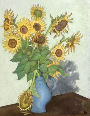 Wilted sunflowers by ClairObscur16