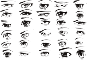 30 Artistic Anime/Fantasy Eyes by Toxous