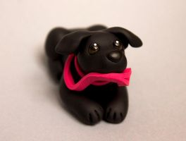 Cody Black Lab dog sculpture by SculpyPups