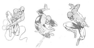 Triple Action Spidey by thepenciler