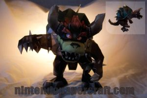 Giga Bowser Papercraft by kamibox