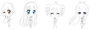 +Vocaloid Rainbow+ WIP by Amai--Kiss