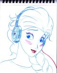 Elsa with Headphones by Anime-Ray