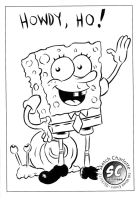 Library Sketch: Spongebob Squarepants by oh-the-humanatee