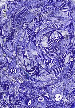 Abstract Pen Art by HGManiac15