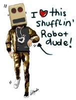 shuffling robot dude by LauraIsaMachine