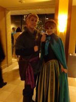 Anna and Kristoff by xCameraNinjax