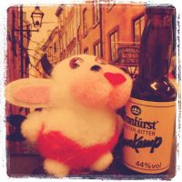 Pink alcoholic cow by Mikhasus