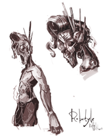 Sketches Of A Robot Man Thing by kvernikovskiy