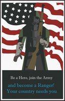 [Fallout] Pre-War Military Poster by IndecisiveFigure