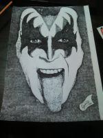 Pointed Gene Simmons (kiss vocal) by GustavoHRG