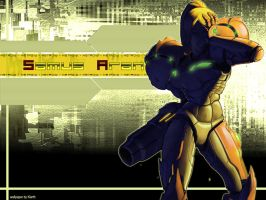 Samus Aran Wallpaper by Klarthkun