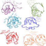 Sketchdump 2: The Grump Dump by SharPhoe