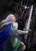 Fingolfin vs. Morgoth by Valyavande