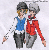 Crossdressing Rebecca and Rei by SamCyberCat