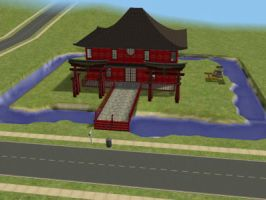 Sims 2 house number three by Chocolatewaffles659
