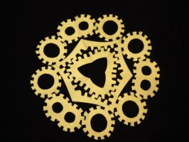 Gears Snowflake by beep3rocks