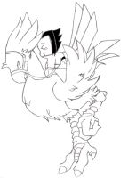 Request : Sasu Ride A Chocobo by SasuIsGay