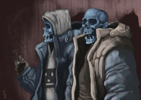 The dudes by EdwardDelandreArt