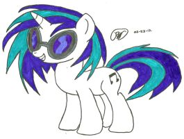 Vinyl Scratch, Hoof Drawn, in Color by Ratchet-Wrench