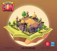Building the Lion -Sultan Mosque by nigelhimself