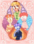 Monsterkind Flower Crowns by nNkComicRelief