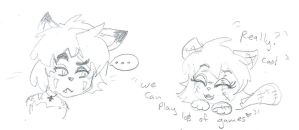 Playful Scarlet  by Kittychan2005