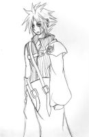 Cloud Strife- Sketch by stormstrife16