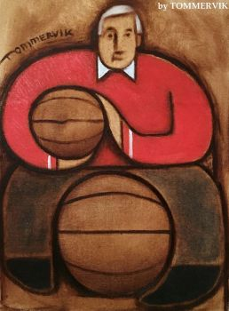 Tommervik Abstract Bobby Knight Painting by TOMMERVIK