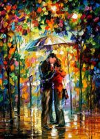 Kiss by Leonid Afremov by Leonidafremov