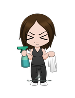 Comm - Chibi - JA - Cleaning by percylove