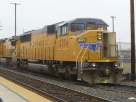 UP SD60M 2374 by BNSF