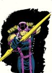 Hawkeye strikes - in colour! by danmcdaid