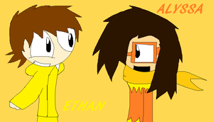 Ethan and Alyssa by sonicexpertfan10
