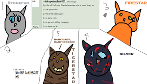 Redfoot Q 5 kitties most likely to do by Ask-Redfoot