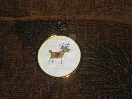 Cross Stitch Christmas Reindeer by Enithien