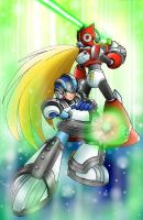 Megaman and Zero by romulo1995