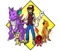 Yellow Nuzlocke Team (3rd Gym) by Kame-Ghost