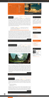Blogspot template Summertime by stupid-owl