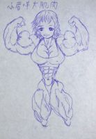 little girl big MUSCLES by e19700