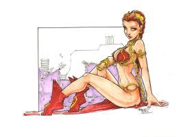 Slave Princess Leia by rantz